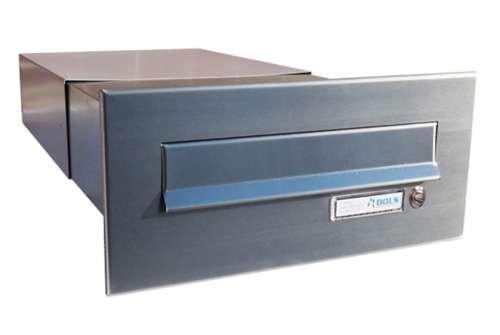 DOLS Poštovní schránka B-042 do sloupku + čelní deska se zvonkem - NEREZ - DOLS Poštovní schránka B-042 do sloupku + čelní deska se zvonkem NEREZ