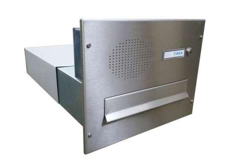 DOLS poštovní schránka B-042 do sloupku s el. + čelní deska se zvonkem a přípravou pro HM - NEREZ - DOLS Poštovní schránka B-042 do sloupku s el. + čelní deska se zvonkem a přípravou pro HM NEREZ