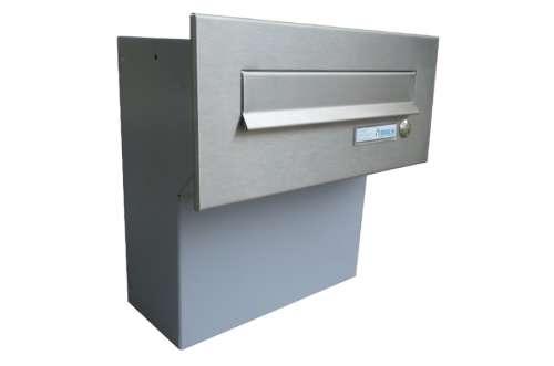 DOLS Poštovní schránka F-04 do sloupku+ čelní deska se zvonkem - NEREZ - DOLS Poštovní schránka F-04 do sloupku+ čelní deska se zvonkem NEREZ