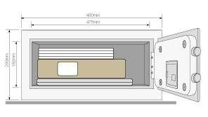 e6a1e2988c Domácí hotelový sejf Yale Safe Standard Laptop 200 - Domácí a ...